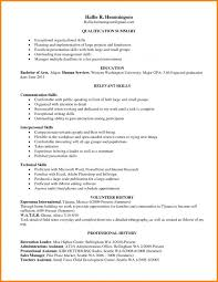 Sample Of Qualifications In Resume Best Of Skills Resumes Examples Musiccityspiritsandcocktail