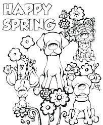 Spring Coloring Pages For Preschoolers Spring Coloring Sheets For