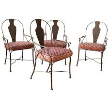 metal patio chairs. Metal Patio Chairs With Upholstered Seats At 1stdibs