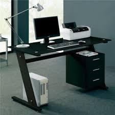 black glass computer desk black computer desks
