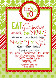 Christmas Dinner Invitation Templates Custom Designed Christmas Party Invitations Eat Drink And Be