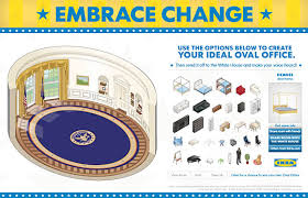 where is the oval office. ikea to embrace change and decorate oval office for obama the future of ads where is e