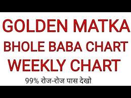 Golden Matka Penal Chart Videos Matching 10 06 2019 Bhole Baba Kalyan Pure Week Ka