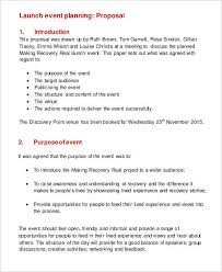 Event Planning Proposal 11 Plan Proposal Templates Free Sample Example Format