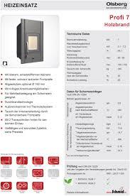 Olsberg Kachelofeneinsatz Profi 7 Kw Hotline 7 21 Uhr