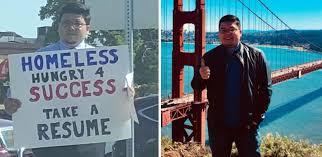 Homeless Man's Honest Sign Gets Him Hundreds Of Job Offers
