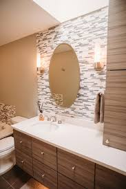 photos gorgeous contemporary bathroom with glass tile accent wall