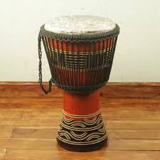 African Drum Designs Handcrafted Kente Theme Authentic African Djembe Drum Kente Spirit