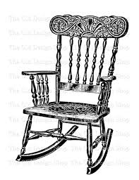 rocking chair clipart. antique rocking chair digital graphic clip art by theolddesignshop clipart c