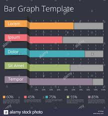 Horizontal Bar Chart Template, Business Infographics Stock Photo ...