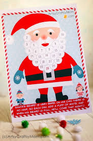 Santa Watermark Free Holiday Printable Santa Advent Calendar And Gift Tags