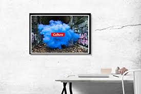 office wall prints. Culture Box Logo Paint Poster Hypebeast Urban Art Trendy Home/Office Wall Print Digital Office Prints I