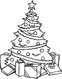 christmas tree with presents coloring pages. Simple Presents Presents Coloring Pages For Christmas Tree With E