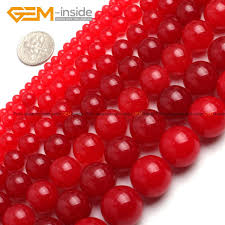 Gem-inside 4-<b>18mm</b> Natural Stone Beads Round <b>Smooth Red</b> ...