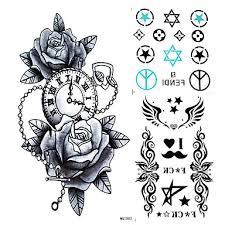 289 Tetovací Nálepky Květinová řada Non Toxic Waterproof Dámské Pánské Dospělý Dospívající Flash Tattoo Dočasné Tetování