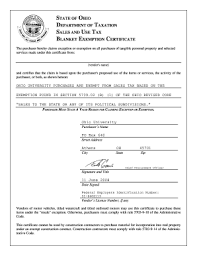 Ohio Tax Exempt Form Fillable Fill Online Printable Fillable