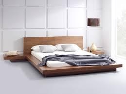 emer natural walnut bed  platform beds  living it up  living it up