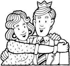 Vrouw Knuffelt Haar Man Kleurplaat Gratis Kleurplaten Printen