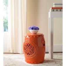 ceramic garden stools. Safavieh Flower Drum Orange Garden Patio Stool Ceramic Stools