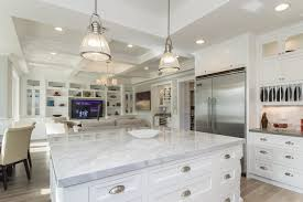 industrial pendant lighting for kitchen. Industrial Pendant In Casual White Kitchen Industrial-kitchen Lighting For B