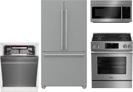 Gas Kitchen Appliance Packages Blomberg 4 Piece Kitchen Package With Bgr30420ss Gas Range