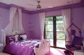 Pretty White Wooden Queen Bed Frame With Lavender Cover Sheet Also White  Valance For Door Curtain As Decorate Teenage Girls Lavender Bedroom Ideas