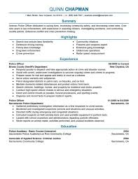 How To Get Job In 2016 2017 With Police Officer Resume Template