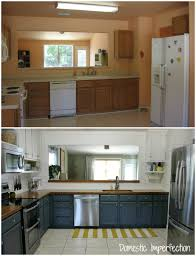 Captivating Before And After  Budget Kitchen Remodel From Domestic Imperfection