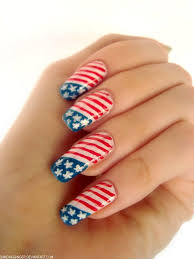 15 Easy & Cool Fourth Of July American Flag Nail Designs   4th of ...