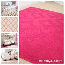 rug for little girls room pink rug damask rug hot pink damask rug