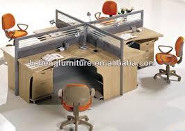 shaped office desk. Korean Design Four People L-shaped Office Desk With Partition Shaped