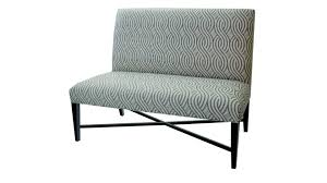 tufted dining bench with back  patterned upholstered fabric dining bench with back and metal base