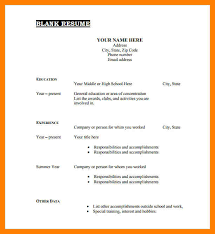 6 Free Printable Fill In The Blank Resume Templates St