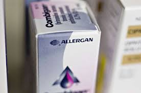 file a box of allergan cation at a pharmacy in princeton illinois on