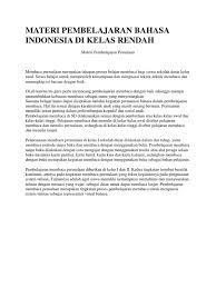 Cd belajar membaca bonus buku panduan ebook pdf untuk. Materi Pembelajaran Bahasa Indonesia Di Kelas