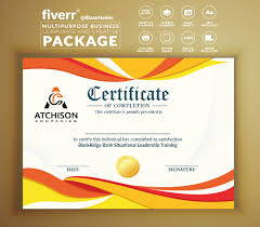 Formal Certificates Design Amazing Formal Custom Certificate By Blazehaider