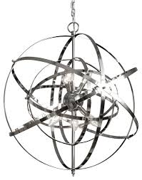 foucault s orb chandelier chrome contemporary chandeliers by