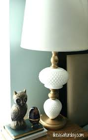 vintage milk glass table lamps with prisms lamp