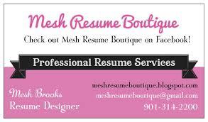 Mesh Resume Boutique