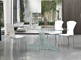unique glass dining table