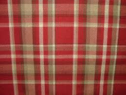 Curtain Fabric Elgin Red Wool Effect Washable Thick Tartan Curtain Fabric