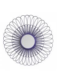 decors violet daisy decorative wall mirror 27 inch wire flower metal wall art with mirror
