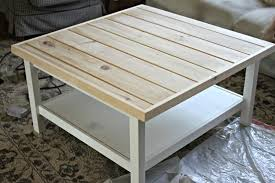 ikea hemnes coffee table with pine tongue and groove plank top goldenboysandme
