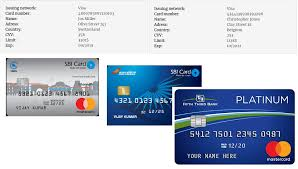 credit card generator with cvv and expiration date and name