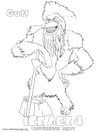 Small Picture Coloring pages Ice Age