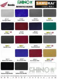Samurai Spray Paint Colour Chart Samurai Spray Paint Honda Colour No H212 Ex 5 Blue