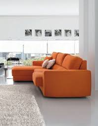 Orange Rugs For Living Room Sectional Orange Sofa Plus Cushion For Living Room Paired With Fur
