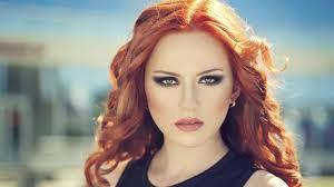 Falling in rough redhead