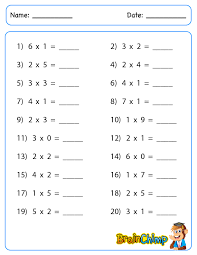 Digit vs 1 Digit Multiplication : Kelpies