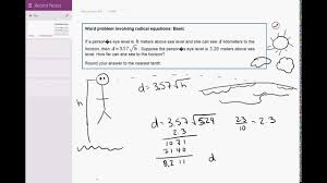 03 11 word problem involving radical equations basic you